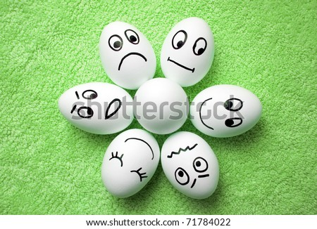 funny eggs emotion mood - photo #11