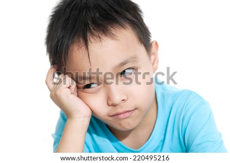 Funny face, funny boy - stock photo