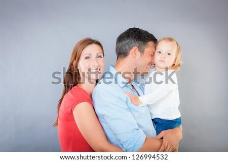 funny family - stock photo