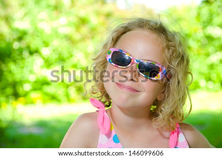 funny girl with sunglasses