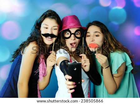 funny girls - stock photo
