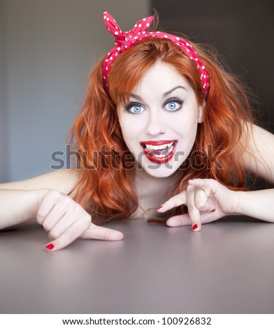 Funny happy girl. - stock photo
