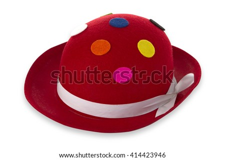 Funny hat isolated on white background - stock photo