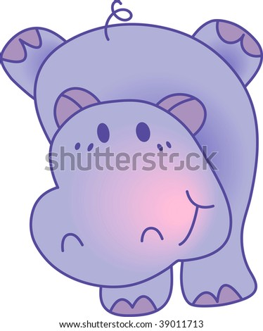 "Funny hippopotamus. Vector version of this image (""*.eps"") also available in my portfolio."