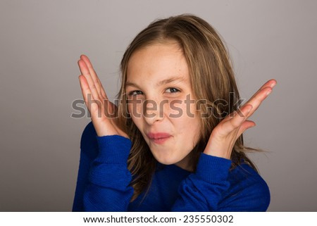 funny kid - stock photo