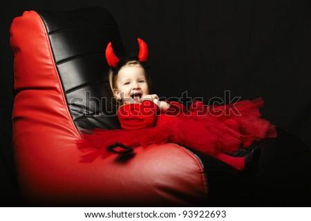 funny little devil - stock photo