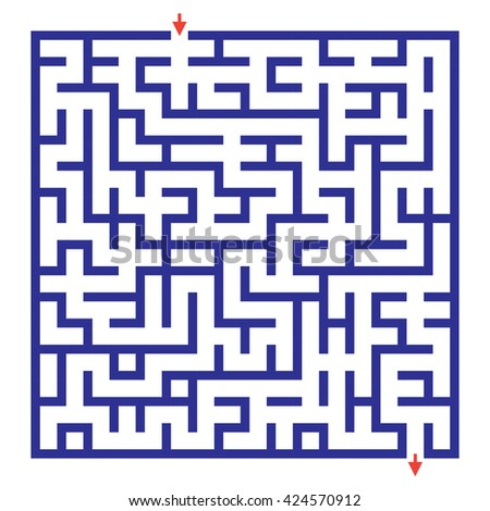 Funny maze game for kids. Visual game for Preschool Children. Maze puzzle with solution.  Labyrinth for preschool children. Rebus or quiz for school