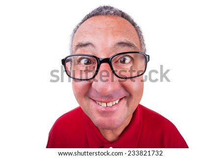 Funny men portrait - stock photo