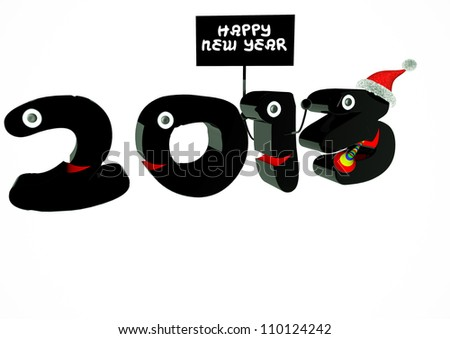 Funny 2013 New Year's Eve greeting card - stock photo