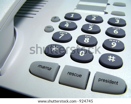 funny phone with extra call buttons (image contains some noise) - stock photo