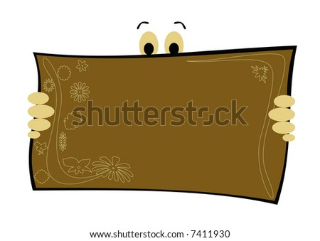 Funny postcard with floral design for special occasions - stock photo