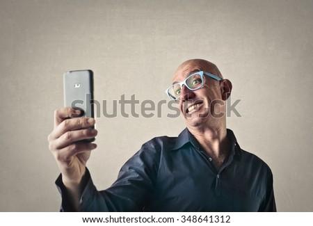 Funny selfie - stock photo