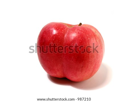 Funny shaped red apple with butt cheeks:)