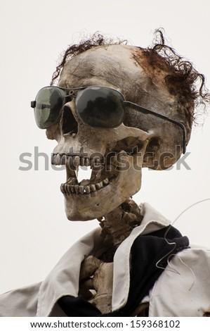 Funny Skull for Halloween - stock photo