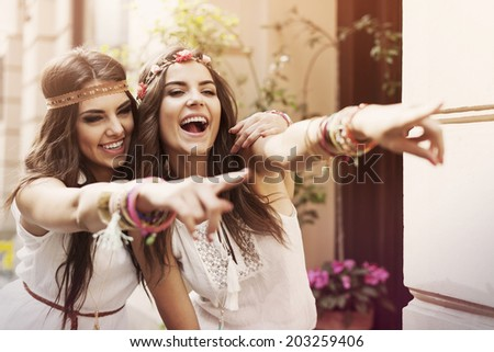 Funny time for the best friends  - stock photo