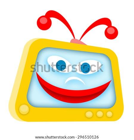 Funny TV - stock photo