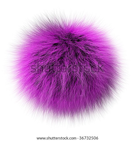 Fur ball - stock photo
