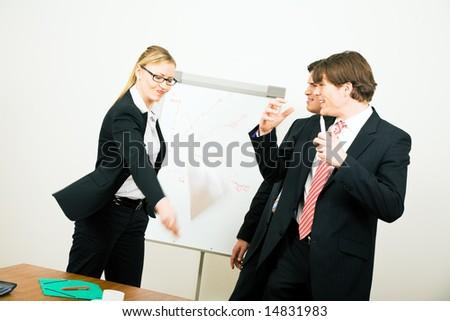 Furious business woman quitting the damn job - stock photo
