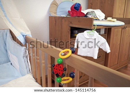 furnished childrens room / baby room - stock photo