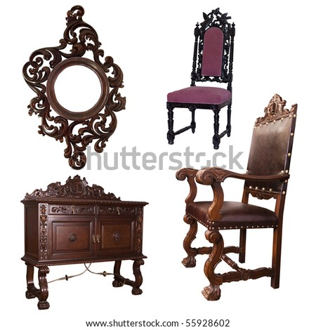 furniture and chair - stock photo