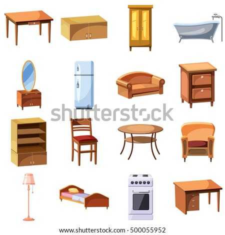 Cute country house icon simple illustration stock vector for Mueble animado