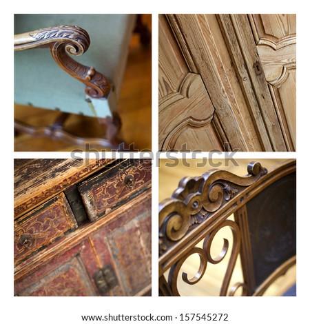 Furniture collage - stock photo