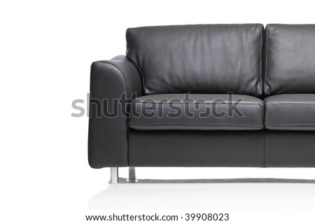 Furniture detail isolated against white background - stock photo