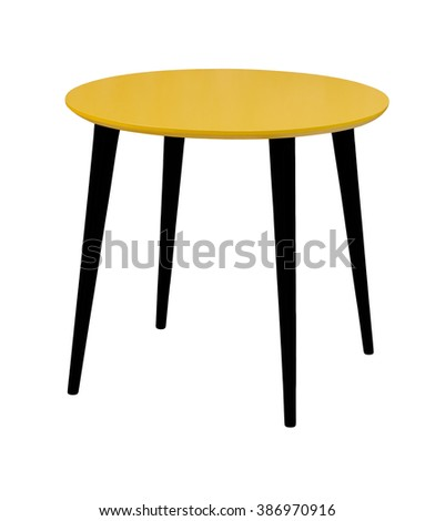 Marvelous Furniture From 50 60 Years Of The Last Century.Yellow Round Table With  Wooden