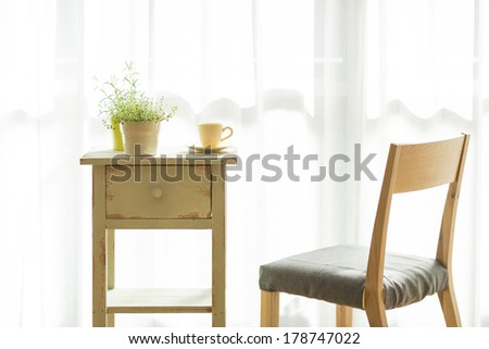 Furniture in the room - stock photo
