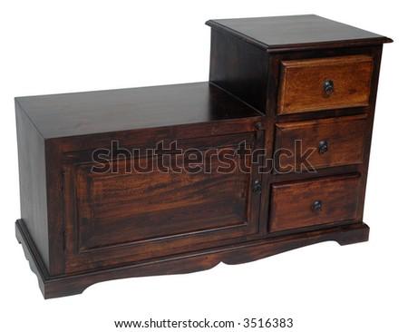 Furniture on white background - stock photo