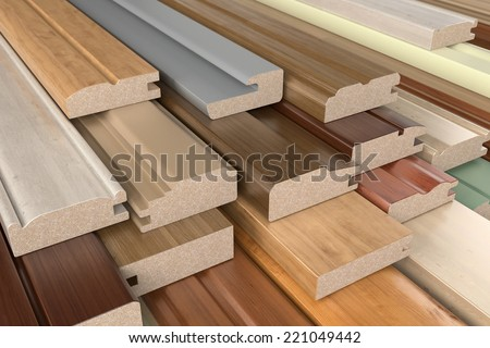Furniture profiles of CPD - stock photo
