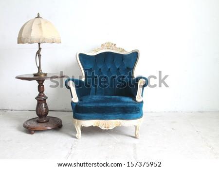 Furniture set vintage - stock photo