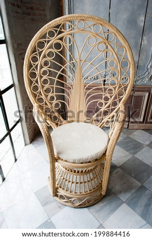 furniture weave bamboo chair