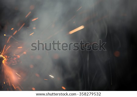 Fuse is burning. Safety fuse   - stock photo