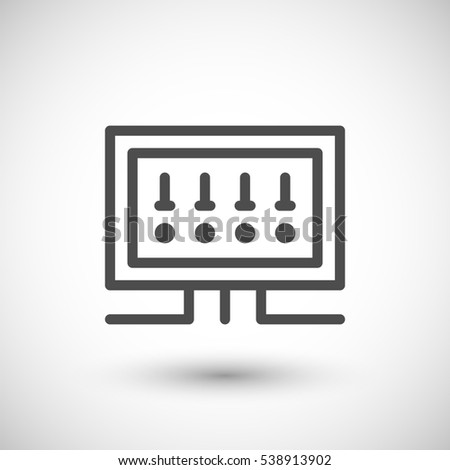 stock photo fusebox line icon isolated on grey 538913902 circuit breaker box stock images, royalty free images & vectors fusebox sign in at fashall.co