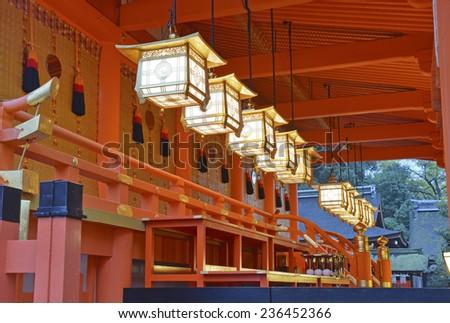 Fushimi Inari Taisha Shrine (Oinari-san), Kyoto, Japan - stock photo