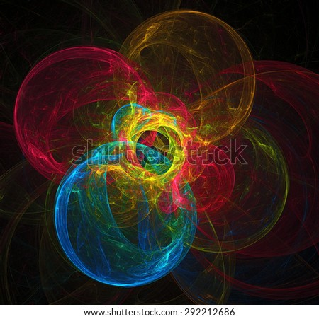 Fusion abstract illustration - stock photo