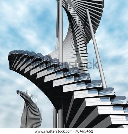 future architecture - stock photo