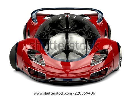 future car front view - stock photo