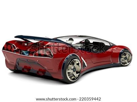 future car rear view - stock photo