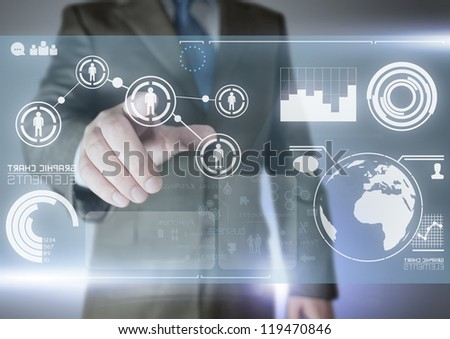Future of Communication - technology Concept - stock photo