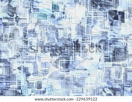 futuristic abstract backgrounds. digital scheme pattern - stock photo