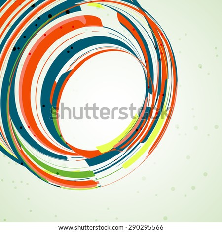 Futuristic abstract shape illustration, technology background - stock photo