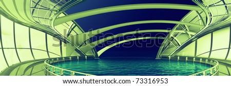 Futuristic Architecture - stock photo