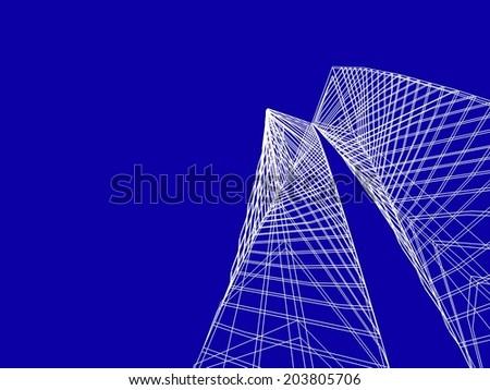 futuristic architecture building towers - stock photo