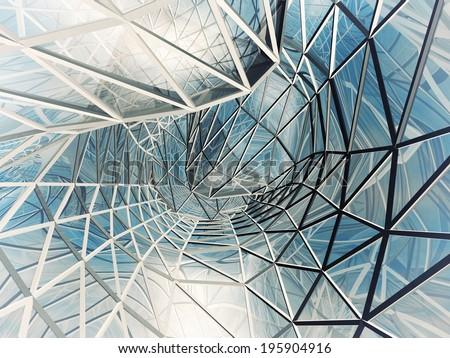 Futuristic building construction - stock photo