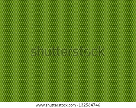Futuristic green hole grid making an abstract pattern. - stock photo
