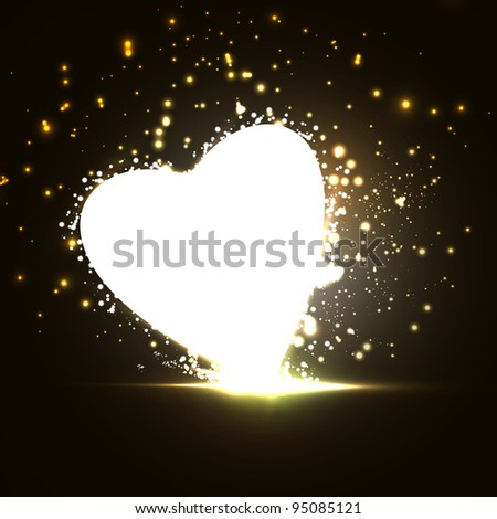 Futuristic heart, abstract background - stock photo