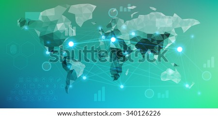 Futuristic infographics with elements of user interface HUD on dark background. - stock photo
