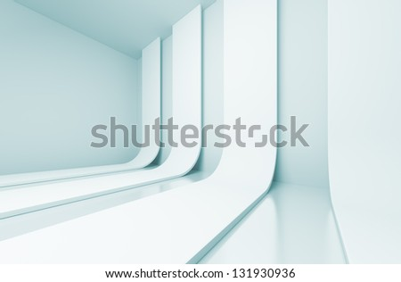 Futuristic Interior Concept - stock photo